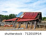 An Abandoned Rustic Barn In...