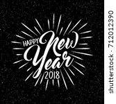 happy new year 2018 card design | Shutterstock .eps vector #712012390