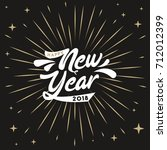 happy new year 2018 card design | Shutterstock .eps vector #712012399