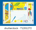 during the open window school... | Shutterstock .eps vector #71201272