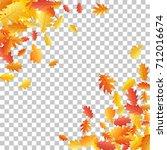 corners of oak leaf vector... | Shutterstock .eps vector #712016674