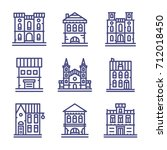 architecture icon set | Shutterstock .eps vector #712018450