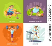 obesity and health concept... | Shutterstock . vector #712020040
