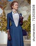 victorian beautiful lady... | Shutterstock . vector #712020838