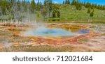 geothermal spring in... | Shutterstock . vector #712021684