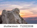 sphinx at hattusa at sunset.... | Shutterstock . vector #712022038
