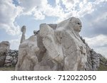 sphinx at hattusa  also known... | Shutterstock . vector #712022050