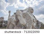 sphinx at hattusa  also known... | Shutterstock . vector #712022050