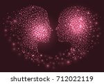 man and woman head. abstract... | Shutterstock .eps vector #712022119