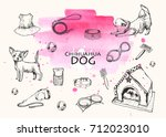 vector  illustration. pen style ... | Shutterstock .eps vector #712023010