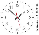 clock face vector isolated | Shutterstock .eps vector #712027918