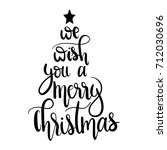 we wish you a merry christmas... | Shutterstock .eps vector #712030696