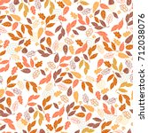 vector seamless pattern of... | Shutterstock .eps vector #712038076