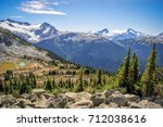 Small photo of Overlord mountain, Whistler, British Columbia, Canada - September 2017: View of the Overlord glacier from the Blackcomb mountain