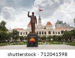 ho chi minh city  saigon  ... | Shutterstock . vector #712041598