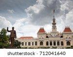 ho chi minh city  saigon  ... | Shutterstock . vector #712041640