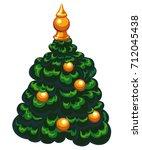 vector illustration christmas... | Shutterstock .eps vector #712045438
