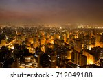 the bright skyline of the city... | Shutterstock . vector #712049188