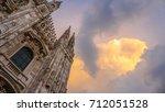 duomo di milano detailed... | Shutterstock . vector #712051528