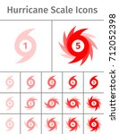 set of hurricane scale icons.... | Shutterstock .eps vector #712052398