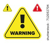 warning sign exclamation mark... | Shutterstock .eps vector #712052704