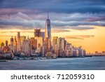 new york city financial... | Shutterstock . vector #712059310