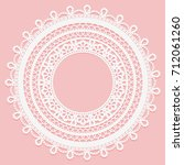 lace frame on a pink background.... | Shutterstock .eps vector #712061260