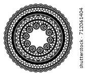 round openwork frame lace