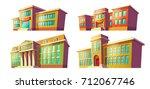 set of college and school... | Shutterstock .eps vector #712067746