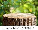 empty tree trunk for display...   Shutterstock . vector #712068046