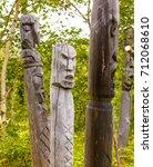 Totem Poles Of The Aborigines...