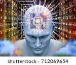 mind processor series. 3d... | Shutterstock . vector #712069654