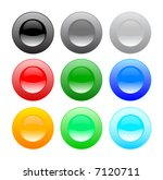 color web buttons  design... | Shutterstock .eps vector #7120711