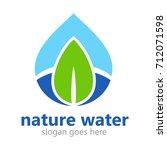 water logo template | Shutterstock .eps vector #712071598