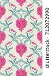 ornamental floral pattern.... | Shutterstock .eps vector #712072990