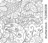 tracery seamless pattern.... | Shutterstock .eps vector #712080208