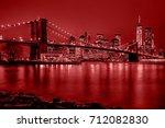 panoramic view new york city... | Shutterstock . vector #712082830