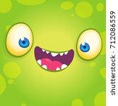 adorable cool cartoon monster... | Shutterstock .eps vector #712086559