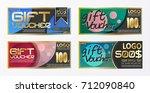 gift certificate voucher coupon ... | Shutterstock .eps vector #712090840
