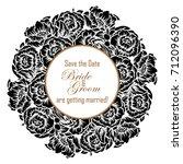 vintage delicate invitation... | Shutterstock . vector #712096390