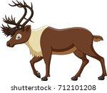 cartoon reindeer isolated on... | Shutterstock .eps vector #712101208