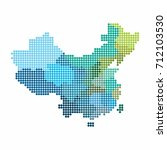 china and taiwan map of circle... | Shutterstock .eps vector #712103530