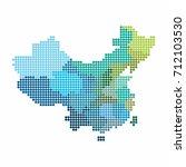 china and taiwan map of circle... | Shutterstock .eps vector #712103530