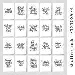 set of 20 black and white hand... | Shutterstock .eps vector #712103974