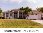 typical southwest florida... | Shutterstock . vector #712110274