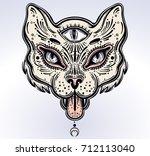 hand drawn beautiful artwork of ... | Shutterstock .eps vector #712113040