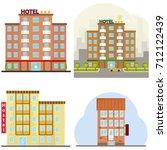 hotel  a hotel suite  a hostel  ...   Shutterstock .eps vector #712122439