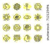 artificial intelligence  ai ... | Shutterstock .eps vector #712125496