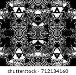 ethnic design. striped... | Shutterstock . vector #712134160