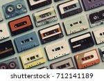 cassette tape vintage style... | Shutterstock . vector #712141189